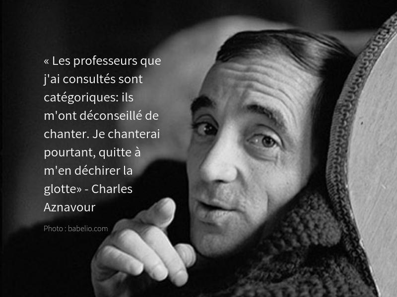 Le cadeau de M. Charles Aznavour